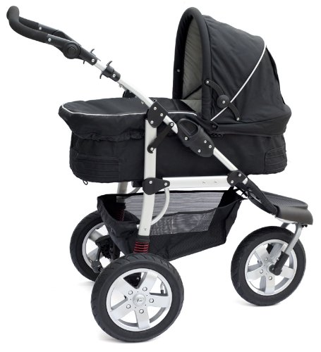 Bambini Tre Nero Black 3 wheel baby stroller / pushchair / pram