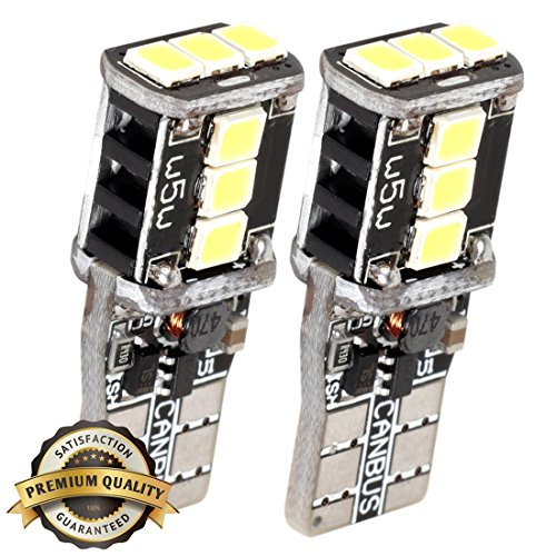 Hilinker Super Bright 194 168 175 2825 W5W 158 161 T10 Wedge High Power 2835 SMD 6000K LED Bulbs with Canbus, Xenon White For Turn Light/ Trunk Light (Set of 2) (Cab Light Fixture compare prices)