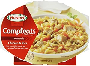 Hormel Compleats Chicken amp Rice10-Ounce Microwavable Bowls 6 Count