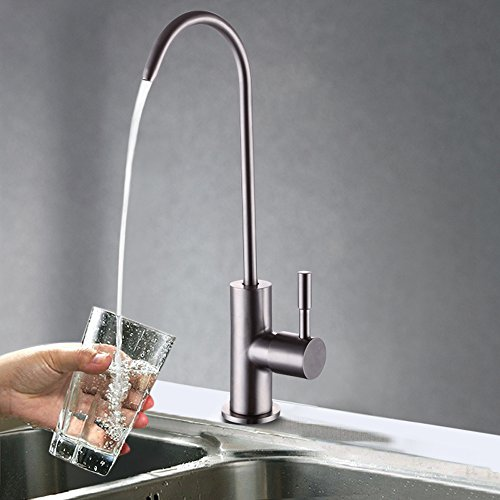 KES Z501A Lead Free Beverage Faucet Drinking Water Filtration System 1/4-Inch Tube, Brushed Stainless Steel (Stainless Steel Water Faucet compare prices)
