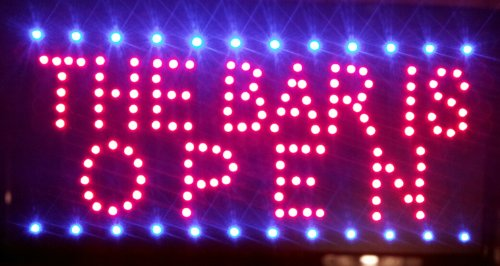 the bar is open ultra bright led neon sign 19 39 business industrial signage electronic signs signs. Black Bedroom Furniture Sets. Home Design Ideas