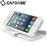 CAPDASE 日本正規品 iPhone5 Folder Case Sider Classic, White フォルダーケース サイダー・クラシック(スタンド機能、カードホルダーつき), ホワイト FCIH5-SC22