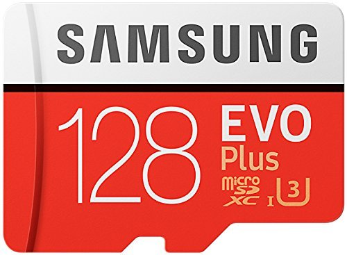 Samsung Evo Plus Class 10 UHS-I microSDXC U3 with Adapter (128GB MB-MC128GA/APC) (Color: Red, Tamaño: 128GB MB-MC128GA/APC)