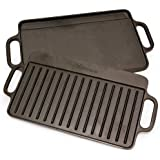 Victoria Reversible Cast Iron Rectangular Griddle, The Original Victoria 189 - Handmade in Colombia, 12.5 x 7.5 inches