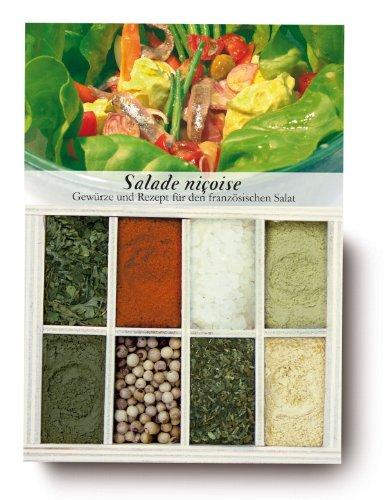 Coffret cadeau 8 Epices Recette plat à cuisiner Salade Niçoise