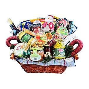 """Weihnachts-Geschenk Korb """"Der Prachtvolle"""" Präsentkorb zu Weihnachten, prachtvoller Geschenkkorb gefüllt mit außergewöhnlich vielen Delikatessen - Geschenke von Wurst-König®"""