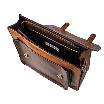 Ecosusi Women PU Leather Vintage Satchel Bag Crossbody Briefcase Handbag 2