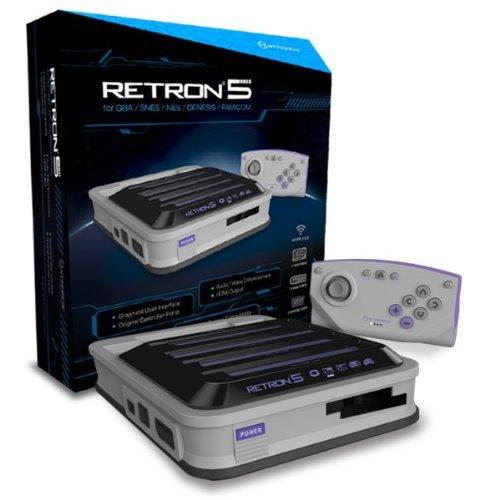 Hyperkin Retron 5 Retro Video Gaming System - Gray front-291333