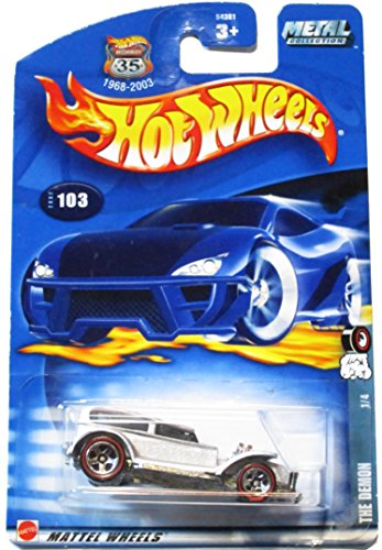 Red Line Series #1 The Demon #2002-103 Collectible Collector Car Mattel Hot Wheels 1:64 Scale - 1