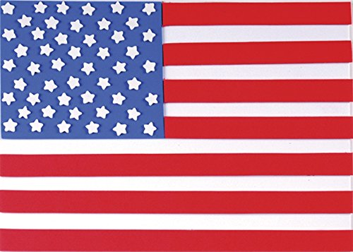 Self-Adhesive Foam American Flag Kit (Makes Two Flags) - 1