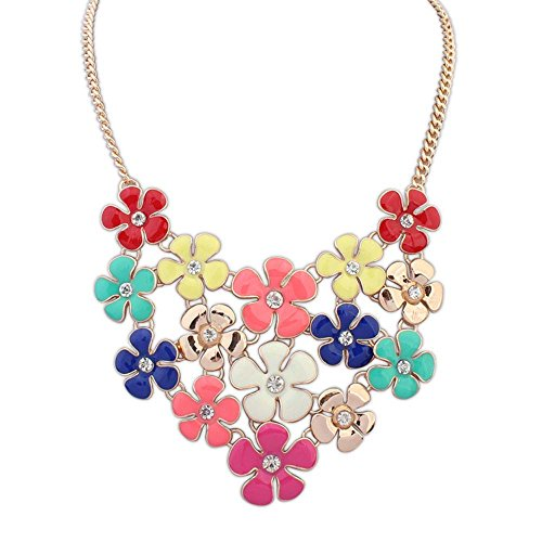 the-starry-night-colorful-elegant-delicate-small-piecemeal-flower-gold-plated-necklace-for-womens-gi