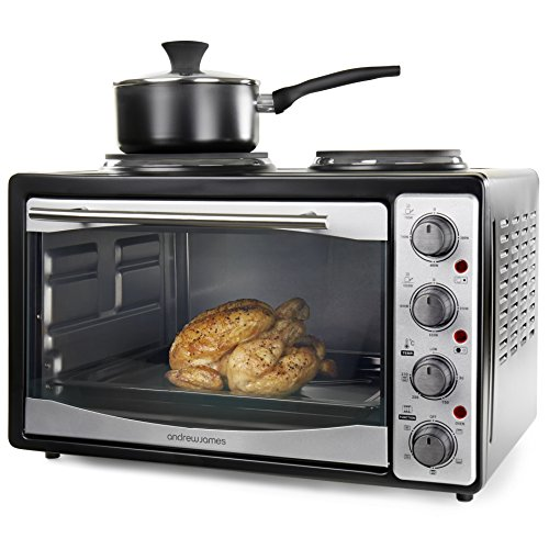 andrew-james-large-33-litre-capacity-black-mini-oven-and-grill-with-double-hot-plates-includes-2-yea