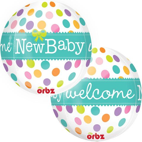 Baby Shower Decorations - 22 Inch New Baby Bubble Balloon - Boy Or Girl Baby Shower front-884098