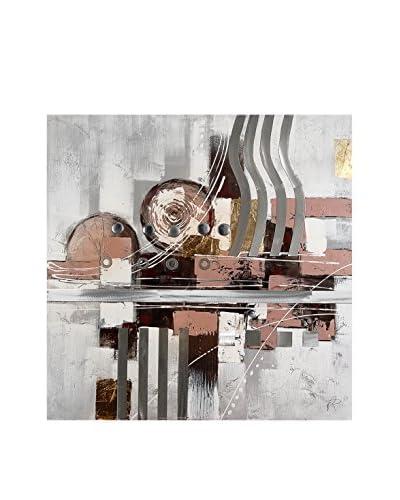 Arte Dal Mondo Pannello Decorativo su Tela Paolo Rossini Composizione Geometrica