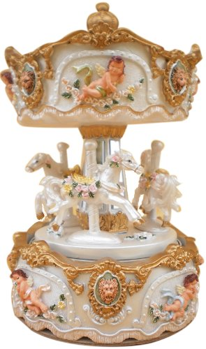 MusicBox Kingdom 14235 170mm Carousel Music Box Playing