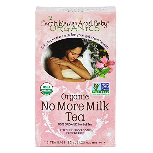 Earth Mama Angel Baby Organic No More Milk Tea, 16 Teabags/Box  (Pack of 3)