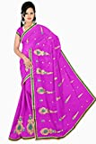 HSFS FAUX GEORGETTE EMBROIDERED SAREE available at Amazon for Rs.540