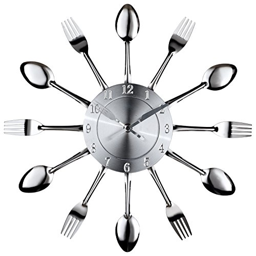 LexMod Fork and Spoon Dining Wall Clock