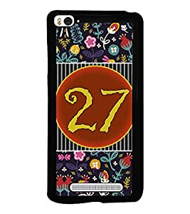 PrintVisa Metal Printed Numeric Designer Back Case Cover for Xiaomi Mi 4i-D4778