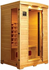 LifeSmart 2 Person Infrared Sauna Featuring Ceramic Heaters and Stereo by Lifesmart