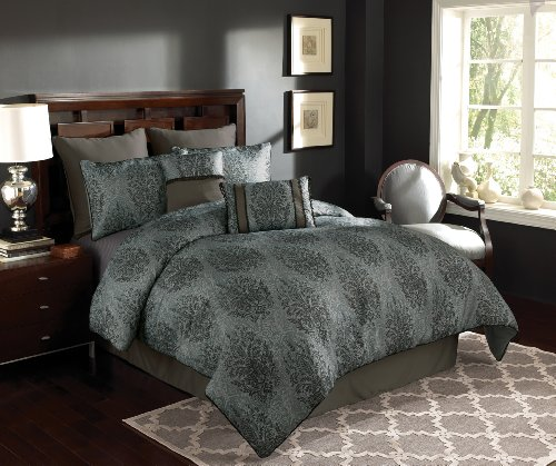 Chapel Hill By Croscill Takira Comforter Set, Queen, Blue