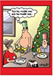 CAB1693 Middle One Christmas Funny Gr...