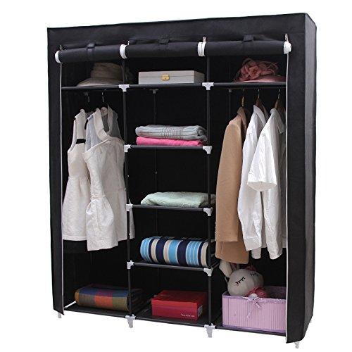 songmics gro xxl kleiderschrank faltschrank w scheschrank. Black Bedroom Furniture Sets. Home Design Ideas