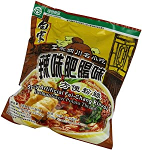 Baijia Sichuan Instant Sweet Potato Thread Noodle Spicy Artificial Fei-chang 4-ounce Pack Of 20