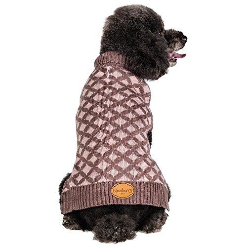 Blueberry Pet 14-Inch Round Argyle Designer Dog Sweater, Large front-749709