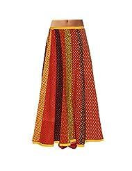 Sttoffa Womens Cotton Skirts -Multi-Colour -Free Size - B00MJO7GFM