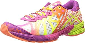 ASICS Women's Gel-Noosa Tri 9 Running Shoe,White/Flash Yellow/Plum,11.5 M US