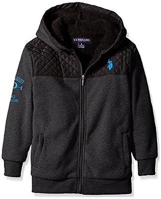 U.S. Polo Assn. Big Boys' Sherpa Lined Fleece Hooded Jacket