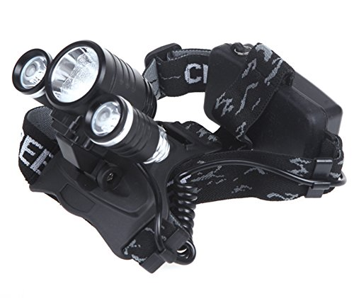 CC-JJ - 100-240V 3000Lm 1XCREE T6 & 2XCREE R2 LED Headlamp