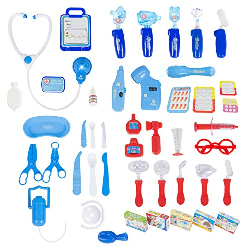 Best-Choice-Products-45-Pieces-Pretend-Doctor-Playset-with-Electronic-Stethoscope-and-Medical-Doctors-Equipment-Lights-and-Sounds