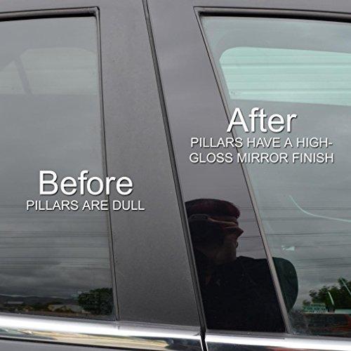 Piano Black Pillar Post Trim Cover Fits: 2008-2014