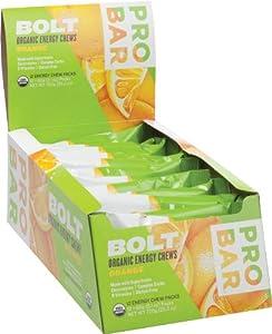 ProBar Bolt Organic Energy Chews Gluten Free Orange -- 12 Pouches