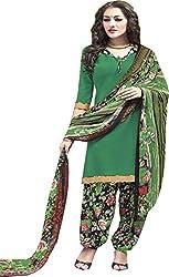 Chandra Enterprises Crepe Patiyala Suit / Dress Material with Mangalgiri Border(Unstitched)for Women