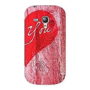 Impressive Pink You Multicolor Back Case Cover for Galaxy S3 Mini