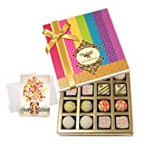 Chocholik Luxury Chocolates - Treat Of Truffles Chocolates Box With Birthday Card