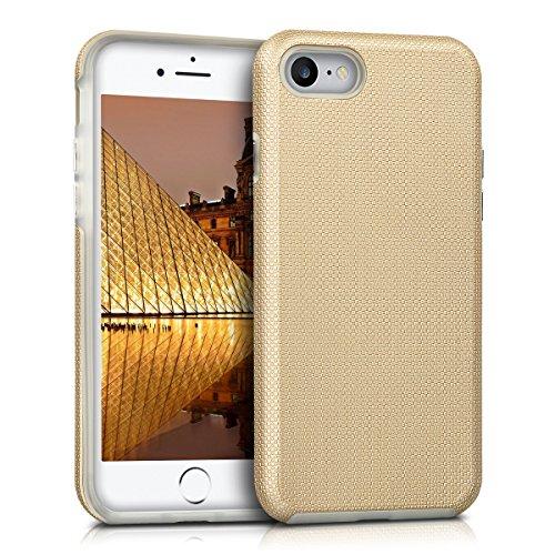 kalibri-Armor-Schutzhlle-fr-Apple-iPhone-7-Hybrid-Dual-Layer-TPU-Silikon-Schale-und-PC-Case-in-Champagner