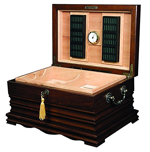 Quality Importers Trading The Tradition Cigar Solid Wood Antique Humidor (Humidor Rectangle Humidifier compare prices)