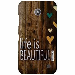 Nokia Lumia 630 Back Cover - Wood Art Designer Cases