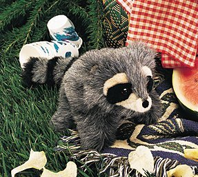 Plush Baby Raccoon Puppet 10