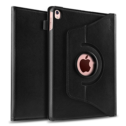 "Apple iPad Pro Case 9.7-inch, Insten 360-degree Rotating Stand Case Folio PU Leather Non Slip Surface For Apple iPad Pro 9.7"" 2016 Release Retina Display, Black"