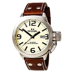 TW-STEEL Armbanduhr Canteen Style TW-1, Braun