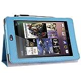 i-BLASON Auto Sleep / Wake Google Nexus 7 inch Tablet 100% Genuine Leather Case Cover / Stylus for 8GB 16GB 3 Year Warranty (Blue) ~ i-Blason