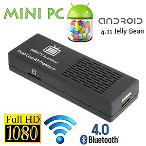 MK808 Dual Core Android 4.1 TV BOX Rockchip RK3066 Cortex-A9 Mini PC Smart TV Stick