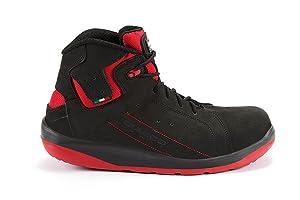 GIASCO Schnürstiefel GYM EN ISO 20345 S3 SRC  schwarz/rot  Schuhe & HandtaschenÜberprüfung und Beschreibung