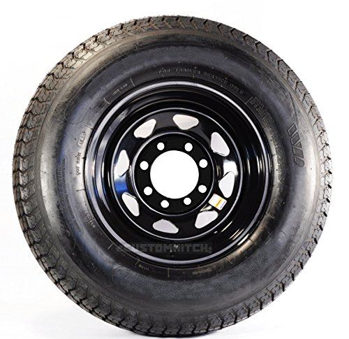 LRE 8 Lug Galvanized Spoke Wheel Radial Trailer Tire On Rim ST235//80R16 16 in
