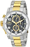 Invicta 14961 Men's I Force Gunmetal Dial Two Tone Steel Bracelet Chronograph Lefty Watch